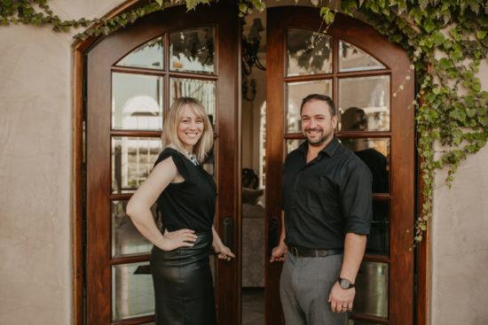Emmett and Kim Jacobi Opening Door Together